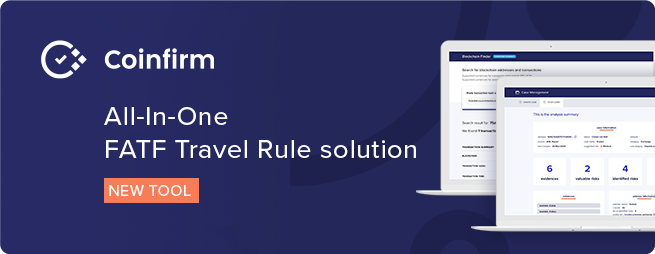 COINFIRM LAUNCHES FATF TRAVEL RULE SOLUTION Providing Crucial Transparency To