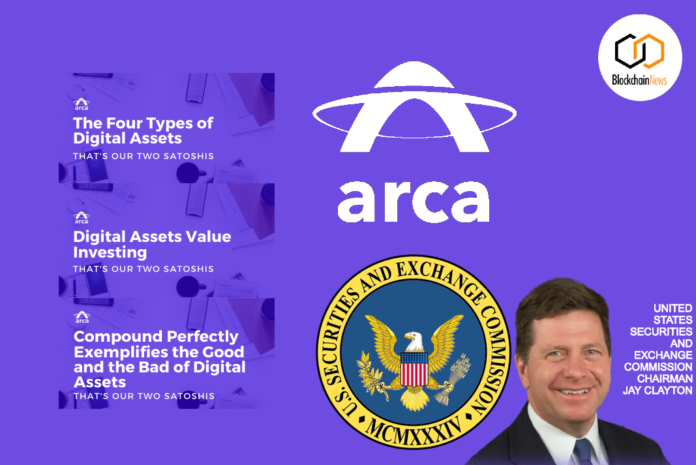 ARCA SEC Digital Assets cryptocurrency approved tokens sale token sale STO Securities