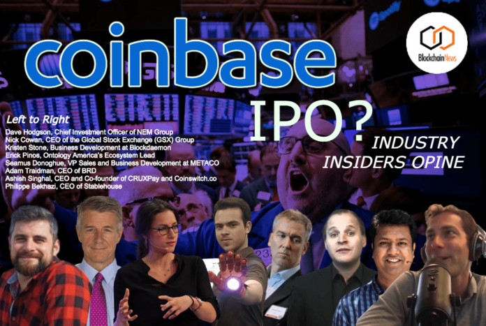 coinbase ipo public sale initial product offering cryptocurrency exchange crypto usa american