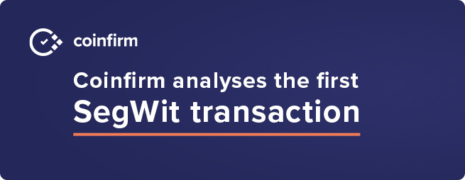 3 years ago SegWit had its first transaction where did