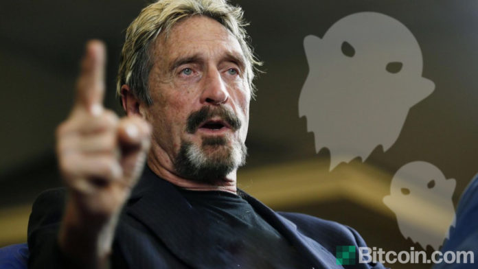 John McAfee Ditches Ghost Crypto Project He Says It Will