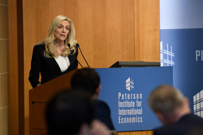 Lael Brainard speech at Peterson Institute 46219603721