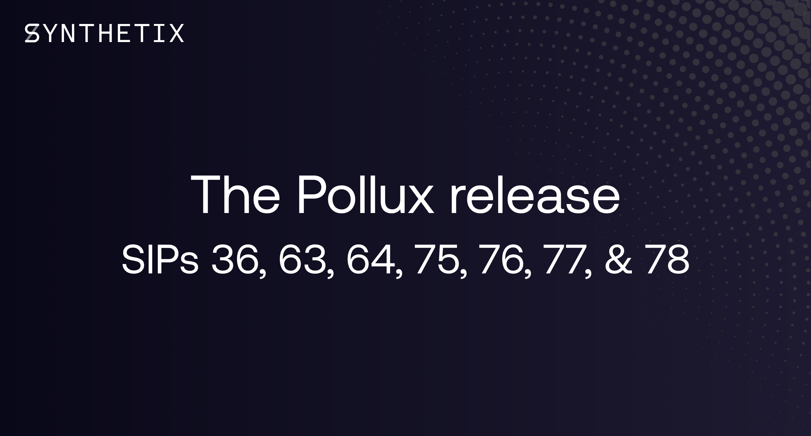 The Pollux release