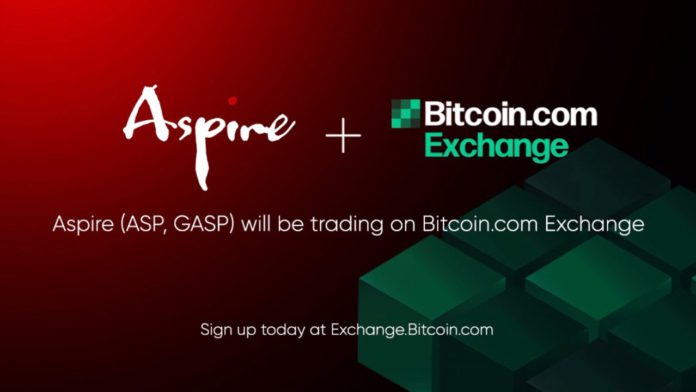 Bitcoincom Exchange to List Aspire and Aspire Gas as Newest