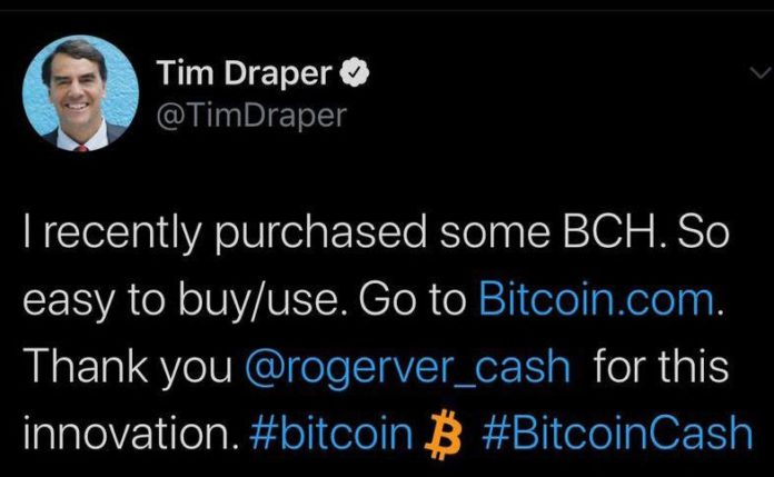 Was Tim Drapers support of BCH the result of a