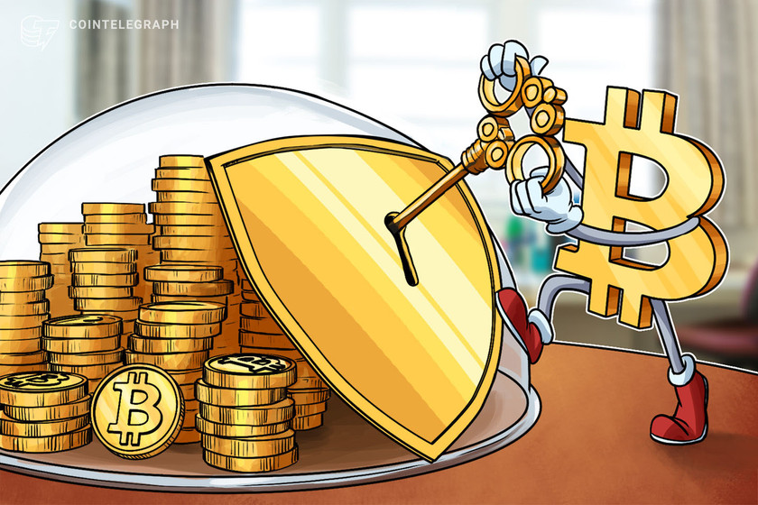 Number of Bitcoin wallets holding over 100 BTC tests 6 month