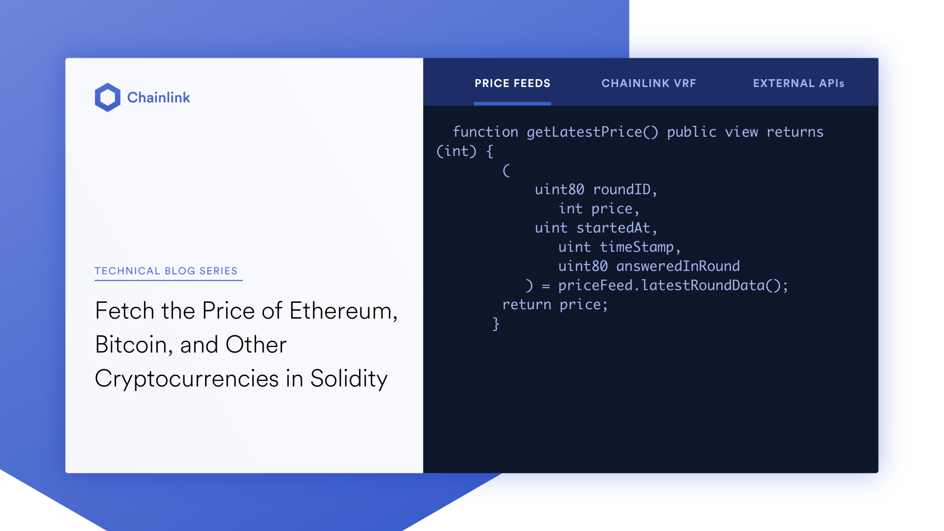 Fetch Price of <bold>Ethereum</bold>, Bitcoin, & Crypto in Solidity