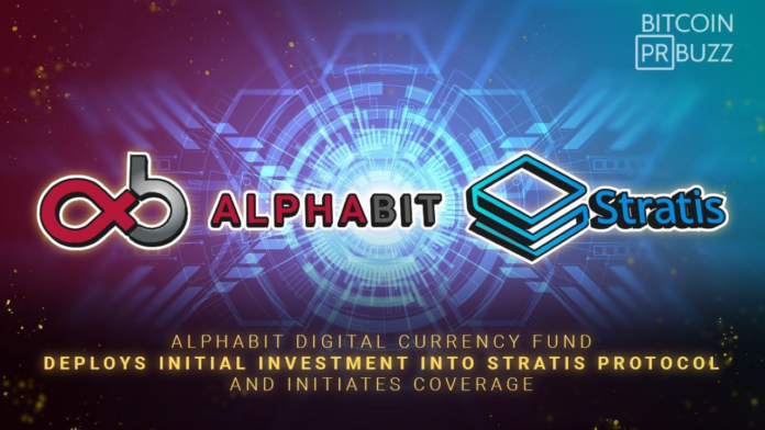 Alphabit Digital Currency Fund Deploys Initial Investment in Stratis Protocol