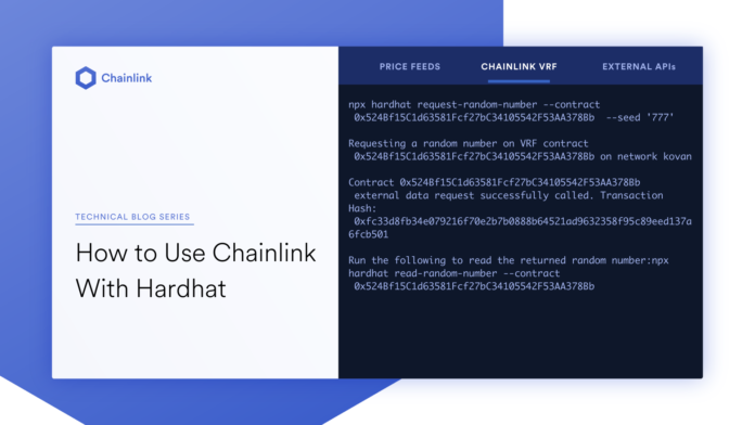 how to use chainlink with hardhat