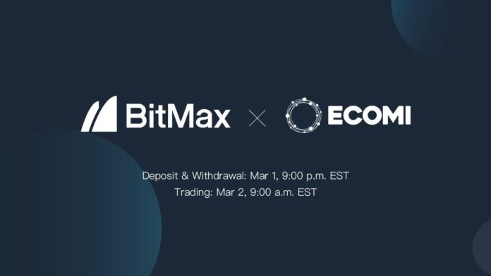 ECOMI to List OMI Tokens With BitMax – Press release
